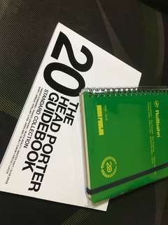 Headporter 20th Anniversary Rollbahn Note Book and Collection Guidebook