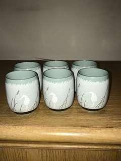 BN Japan Porcelain Tea Cups 6