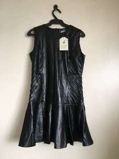 Something Borrowed Faux Leather Dress