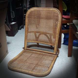 Vintage Cane Floor Seat Chair, good for reclining, meditation