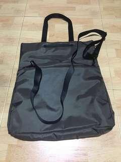 Grey Laptop Tote/Sling Bag