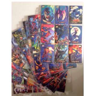 Full Set of 1994 Marvel Masterpieces (140 base cards) + free 9-pocket pages!