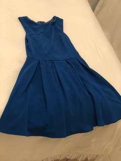 Cobalt Blue A-Line Dress