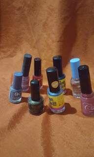 8 assorted nail polish