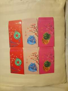 OCBC Red Packets (6 nos)