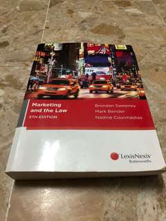 Marketing and the law, 5th edition
