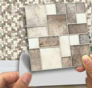 18pcs Square Stitching Tile Stickers (self adhesive)
