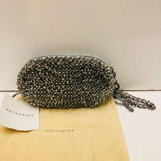Anteprima silver small clutch Wirebag cosmetic bag