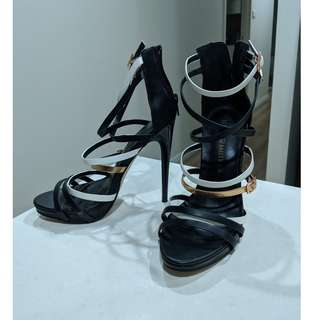 "Strappy 4-5"" Heels with Zip Back"