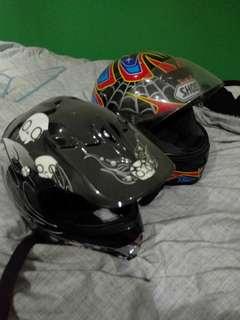 Moterbike helmets