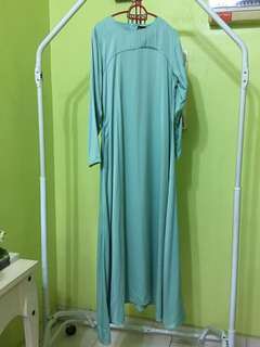 Jubah Basic Bella Ammara Mint