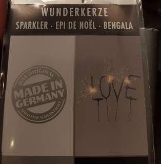 "Cake Sparklers - spells ""L O V E"""