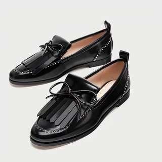 Zara Black Oxford Shoes