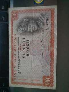 Old MNB 10 RINGGIT NOTE