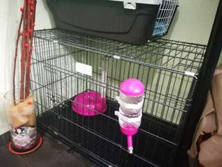 Dog Cage!!(with free water bottle and food bowl)