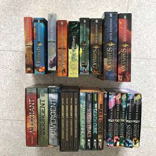 Percy Jackson, Maze runner, Heroes of Olympus, Minecraft book sets