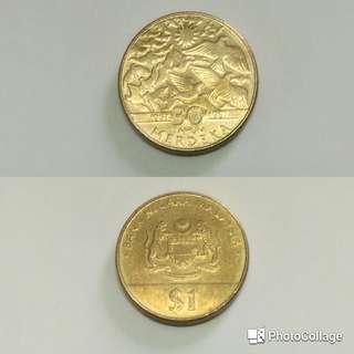 Syiling Peringatan 30 tahun Merdeka 1957-1987 - Malaysian Coin