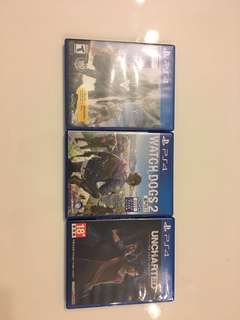 Ps4 game(watch dogs2、destiny、uncharted the lost legacy)