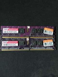 🚚 VDATA DDR2 533MHz 512MB 記憶體 2條