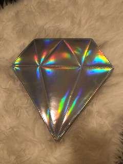 Diamond bag + makeup brushes