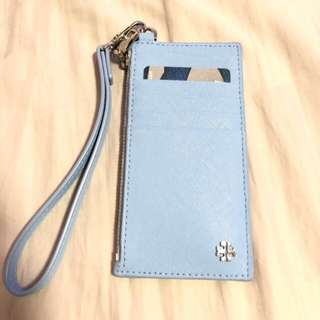 Tory Burch card holder with coin compartment