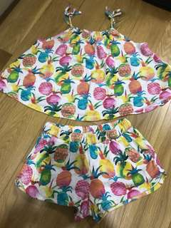 Authentic zara top n shorts