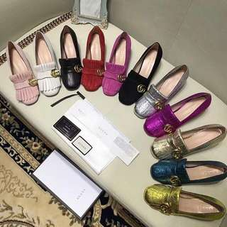 Gucci Leather Loafer Pump