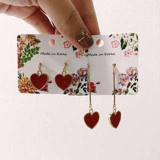 Pop the red heart earring