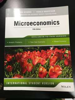EC2101 Microeconomics Fifth Edition