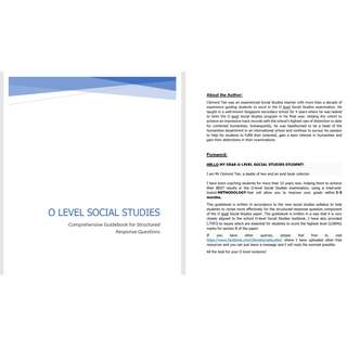 O level Social Studies Structured Response Essays Guidebook