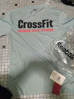 100% Brand new size S crossfit reebok fitness tshirt sport wear fit exercise wear FREE lifting hand wrap strap