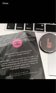 Coco Chanel makeover badge