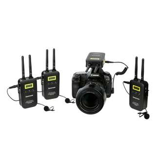 🚚 Saramonic VmicLink5 (3TX+RX) 5.8GHz SHF Wireless Lavalier Microphone System (3 Transmitter and 1 Receiver)