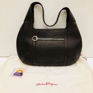 Salvatore Ferragamo brown leather Handbag