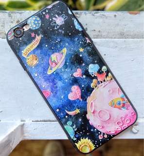 Casing Iphone 6/6S Case Cover Hp Starry Space Universe Murah
