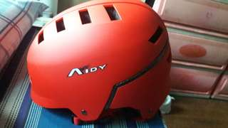 motor/bicycle adjustable helmet (red)