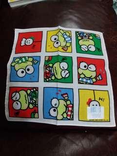 青蛙仔Keroppi 日本絕版1989年靚靚手巾仔