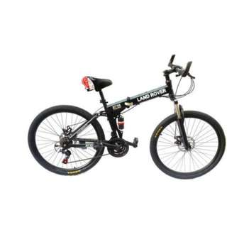 Brand new Land Rover folding bike bicycle with suspension 2 disc brakes