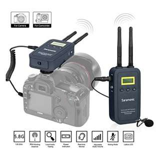 🚚 Saramonic VmicLink5 HiFi (TX5+RX5) 5.8GHz SHF Wireless Lavalier Microphone System
