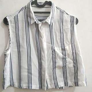 Bershka Sleeveless Stripe Top