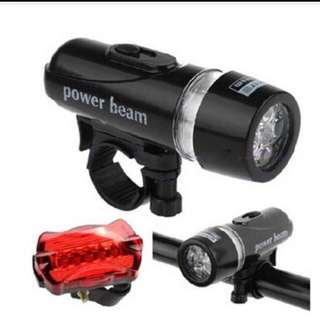 SALE-Bicycle front and rear light-free Mail