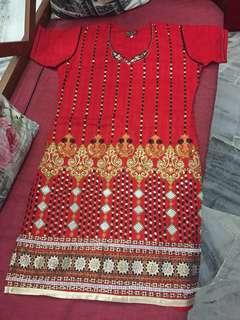 (BN) Promotion for this week-Daniel Creations Red Punjabi Suit Set