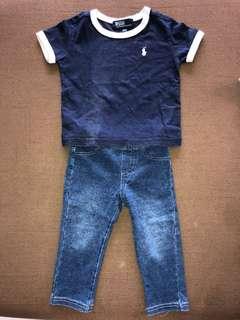 RL shirt pants set
