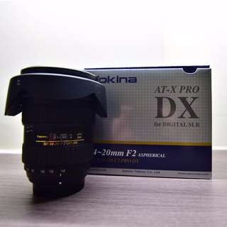 Tokina 14-20mm F2 (IF) DX- Nikon mount