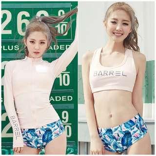 In Stock 💕Korean version 3 pieces suit of UV Rash Guard,  Swimsuit, Swimwear, Beach Wear, Sport wear