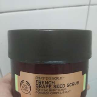 Share in jar 30 ml - The Body Shop french grape seed scrub