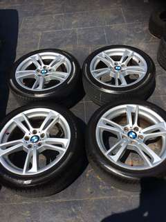 "BMW X3 M sport 19"" wheels with tyres"
