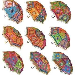 Rajasthani handmade embroidery umbrella