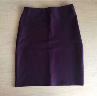 BN maroon bandage pencil skirt