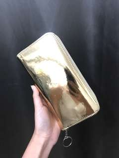 F21 Gold Wallet